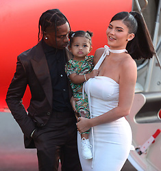 Travis Scott: Look Mom I Can Fly. 27 Aug 2019 Pictured: Travis Scott, Kylie Jenner and daughter Stormi Webster. Photo credit: MEGA TheMegaAgency.com +1 888 505 6342