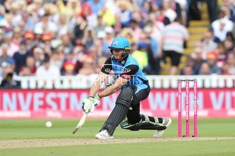 Worcestershire Rapids Ben Cox during the Vitality T20 Finals Day semi final 2018 match between Worcestershire Rapids and Lancashire Lightning at Edgbaston, Birmingham, United Kingdom on 15 September 2018.