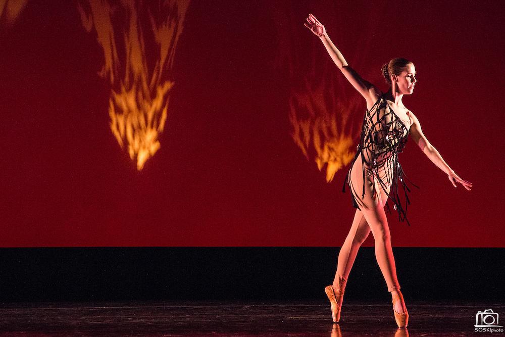 Santa Clara University's Department of Theatre & Dance performs Images 2015 during a dress rehearsal at Santa Clara University's Louis B. Mayer Theatre in Santa Clara, California, on February 4, 2015. (Stan Olszewski/SOSKIphoto)