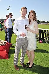 Actress ROSE LESLIE and SHAUN EVANS at the Audi International Polo Day held at Guards Polo Club, Smith's Lawn, Windsor on 22nd July 2012.