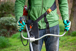 Detail of strimmer harness