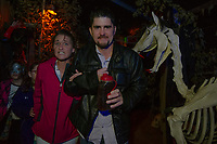 Skylar Poirier, MB Motts, Courtney Greenwood and Kevin Poirier find a fright around every corner of the Haunted House in Hill on Friday evening.