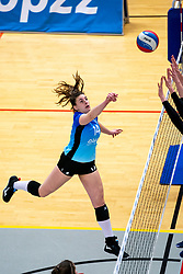 Susan Schut of Zwolle in action during the first league match between Djopzz Regio Zwolle Volleybal - Laudame Financials VCN on February 27, 2021 in Zwolle.