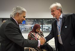 9 December 2019, Madrid, Spain: Religious leaders from a variety of faiths meet to hand over an interfaith declaration to Ovais Sarmad, deputy executive secretary of the UNFCCC, at COP25. Here, Lutheran World Federation vice president for Latin America Rev. Dr Nestor Friedrich (right).