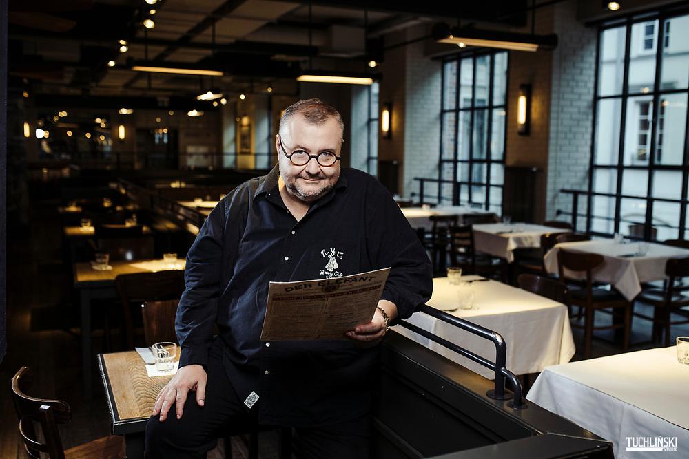 Warszawa, Polska; 14.02.2019r. Restauracja Der Elefant Artur Jarczyński własciciel, restaurator.<br /> Fot. Adam Tuchliński dla Forbes