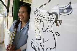 Vankham 26 years old the Director of the clinic in Nayang Nua Village Nam Bac District, Luang Prabang Province. Lao PDR