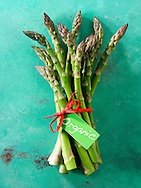 Stock photos of a bunch of fresh organic English asparagus spears . Funky stock photos images of English Asparagus