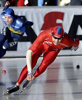 12-01-2007 schaatsen ek allround collalbo italie / sverre haugli on the 500 meter norway DIGITALSPORT / NORWAY ONLY