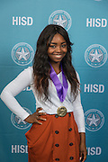 Briana Roberson poses for a photograph during the Scholars banquet, April 12, 2016.