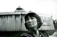 1992 Bialystok N/z rzezbiarka Magdalena Abakanowicz ( 1930 - 2017 ) fot Karolina Szumska / AGENCJA WSCHOD