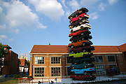 WUHAN, CHINA - JUNE 18: (CHINA OUT) <br /> <br />  A Sculpture Made of Scrapped Cars<br /> <br /> A sculpture made of 13 scrapped cars at a cultural industrial park on June 18, 2013 in Wuhan, Hubei province of China.<br /> ©Exclusivepix