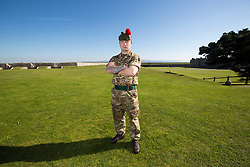 Adam Comiskey. Feature on the Army's new Foxhound light mechanised infantry vehicles at Fort George army barracks, before they leave on convoy for England, before going into active service.