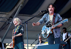 05 May 2013. New Orleans, Louisiana,  USA. .New Orleans Jazz and Heritage Festival. JazzFest..Music legends Daryl Hall and John Oates play the Gentilly Stage..Photo; Charlie Varley.