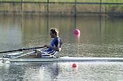 Hazewinkel. BELGUIM  GBR M1X James CRACKNELL. 2004 GBR Rowing Trials - Rowing Course, Bloso, Hazewinkel. BELGUIM. [Mandatory Credit Peter Spurrier/ Intersport Images]