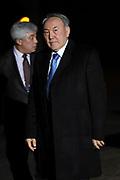 Koning Willem Alexander en Koningin Maxima ontvangen  de delegatieleiders van de Nuclear Security Summit (NSS) voor een diner op Paleis Huis Ten Bosch in Den Haag.<br /> <br /> King Willem Alexander and Queen Maxima receive the heads of delegation of the Nuclear Security Summit (NSS) for a dinner at the palace Huis Ten Bosch in The Hague.<br /> <br /> Op de foto / On the photo:  president Nursultan Nazarbayev van Kazachstan / President Nursultan Nazarbayev of Kazakhstan