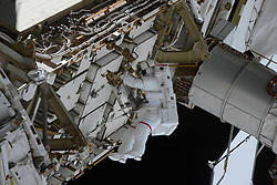March 26, 2019 - The ISS is a series of EVAs under American program. March 22, outside the station, worked Anne McClain and Nick Haig  Cosmonaut Oleg Kononenko took a few pictures of ''space walk'' —  Roscosmos via globallookpress.com (Credit Image: © Russian Look via ZUMA Wire)