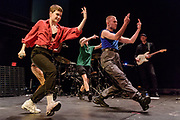 WASHINGTON, DC - November 4th, 2018 - Heloise Letissier of Christine and the Queens (left) performs on stage at the 9:30 Club. She released her sophomore album, Chris, last September and it became a Top 5 album across Europe. (Photo by Kyle Gustafson / For The Washington Post)