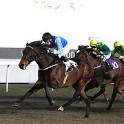 Spartilla and James Sullivan winning the 5.00 race