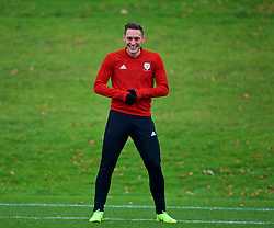 CARDIFF, WALES - Monday, November 19, 2018: Wales' Connor Roberts during a training session at the Vale Resort ahead of the International Friendly match between Albania and Wales. (Pic by David Rawcliffe/Propaganda)