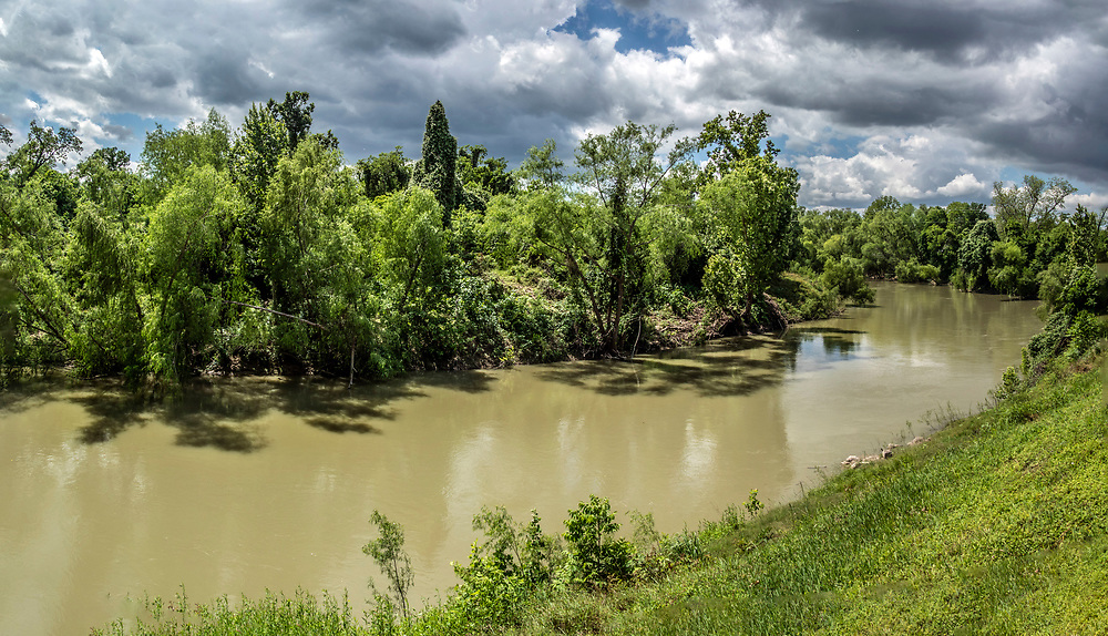 View of the Guadalupe River from The Pump House Riverside Restaurant and Bar, Victoria,Texas, USA