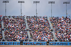 March 4, 2018 - Las Vegas, NV, U.S. - LAS VEGAS, NV - MARCH 04: The Dale Earnhardt terrace is seen during the Monster Energy NASCAR Cup Series Pennzoil 400 Sunday, March 4, 2018, at the Las Vegas Motor Speedway in Las Vegas, NV. (Photo by Sam Morris/Icon Sportswire) (Credit Image: © Sam Morris/Icon SMI via ZUMA Press)