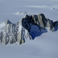 Antarctica. Organ Pipe Peaks in the Gothic Mountains, a range of Queen Maud Mountains, in the vast Trans-Antarctic Mountains