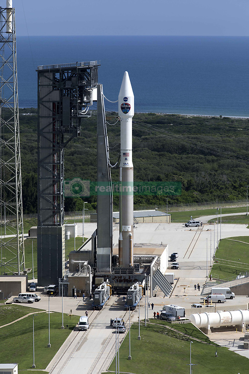 August 16, 2017 - Cape Canaveral, Florida, U.S.  - The United Launch Alliance Atlas V rocket stands at Space Launch Complex 41 at Cape Canaveral Air Force Station in Cape Canaveral, Florida. The commercial rocket scheduled to send NASA's Tracking and Data Relay Satellite, TDRS-M to orbit on August 18th. (Credit Image: © Kim Shiflett/Planet Pix via ZUMA Wire)