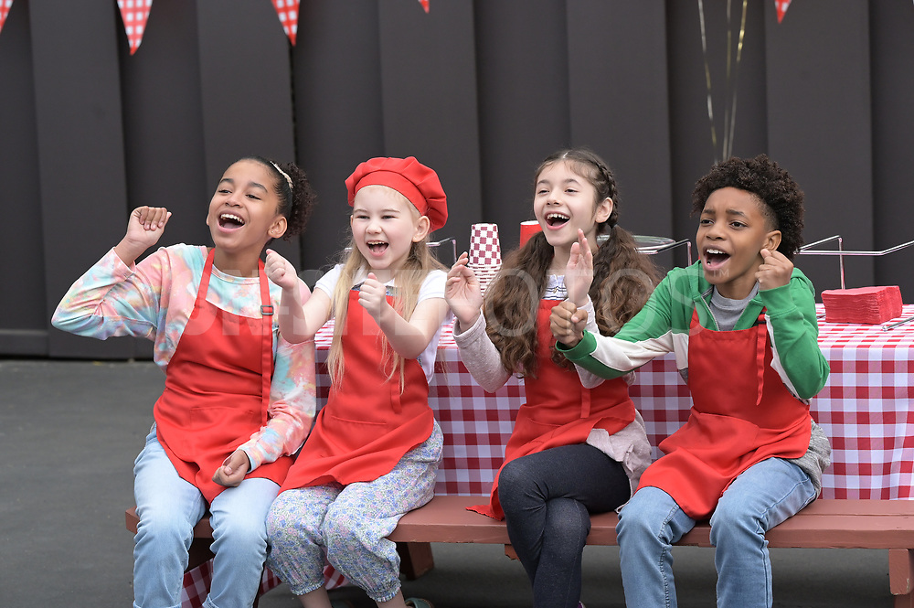 """HOME ECONOMICS - """"Bounce House Rental, $250"""" – Connor invites all the cousins over for an epic sleepover to cheer up his daughter, Gretchen. Meanwhile, Tom is determined to prove he can be a fun uncle too on """"Home Economics,"""" WEDNESDAY, APRIL 21 (8:30-9:00 p.m. EDT), on ABC. (ABC/Temma Hankin)<br /> JORDYN CURET, SHILOH BEARMAN, CHLOE JO ROUNTREE, JECOBI SWAIN"""