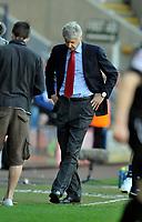 Reebok Stadium Bolton Wanderers v Arsenal (2-1) 24/04/2011 Premier League<br />Arsenal  manager Arsene Wenger  trudges off after final whistle <br />Photo: Roger Parker Fotosports International