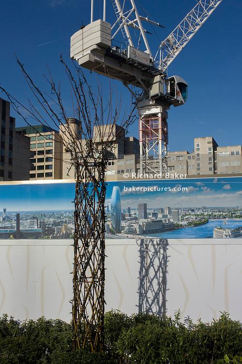 Apartment property development marketing suite hoarding landscape.
