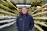 Mcc0038874 . Daily Telegraph..DT Sport.Jurgen Grobler, chief coach of GB Rowing Team men..The announcement of the GB Rowing Crews for the first World Cup.. .Reading 4 April 2012