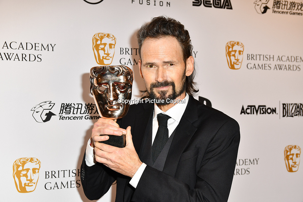 Winner: God of War by Jeremy Davies at the British Academy (BAFTA) Games Awards at Queen Elizabeth Hall, Southbank Centre  on 4 March 2019, London, UK.