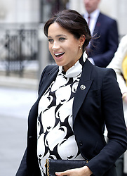March 8, 2019 - London, UK - Meghan, Duchess of Sussex visits the King's College London. She join's a panel discussion convened by The Queen's Commonwealth Trust to mark International Women's Day, at King's College London, bringing together a special panel of female thought-leaders and activists to discuss a range of issues affecting women today. (Credit Image: © face to face via ZUMA Press)