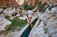 Sultanat d'Oman, gouvernorat de Ash Sharqiyah, Wadi ash Shab, falaj, canaux d'irrigation // Sultanat of Oman, governorate of Ash Sharqiyah, Wadi ash Shab, falaj, irrigation canals