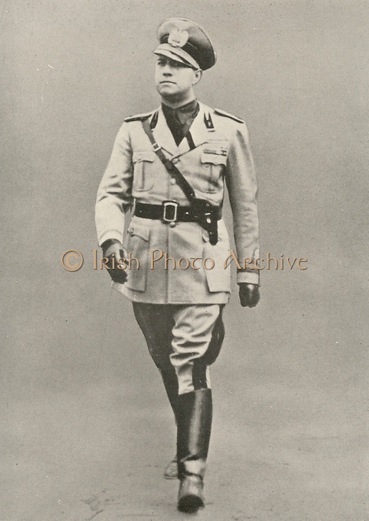 'Gian Galeazzo Ciano, 2nd Count of Cortellazzo and Buccari (1903-1944) Italian Foreign Minister and son-in-law of Mussolini, executed under pressure from Nazi Germany.  Second World War.'