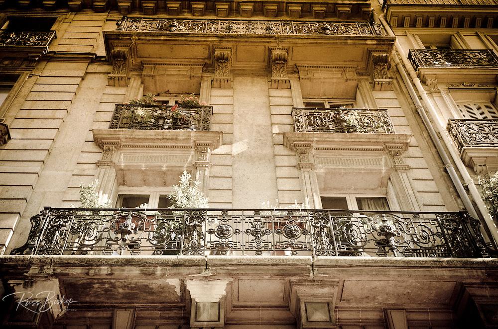 Apartment balcony, Paris, France