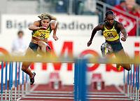 Friidrett , 15. juni 2007 , Golden League Bislett Games , <br /> <br /> Susanna Kallur og Michelle Perry (95) 100 meter hekk