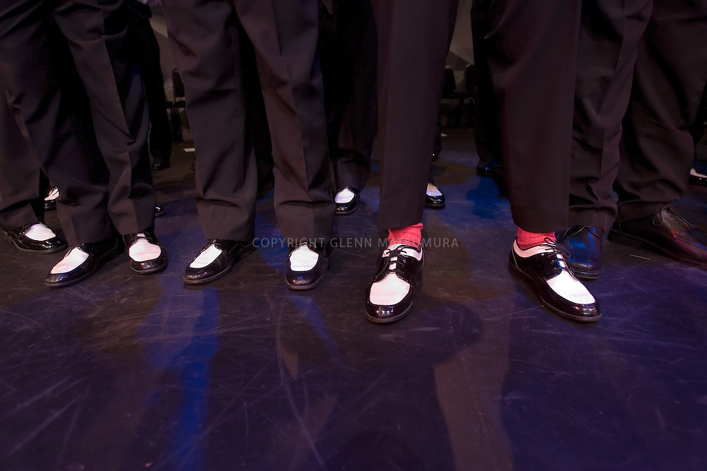 Stanford's Fleet Street 20 year reunion a cappella concert at Dinkelspiel auditorium.
