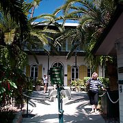 Entrance and ticket booth in Ernest Hemingway home and museum