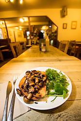 The mushrooms on toast starter. Pillars of Hercules, Falkland, Fife, Tam Cowan review
