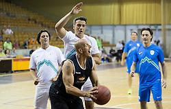 Mile Acimovic vs Boris Gorenc during football and basketball charity event All Legends by Olimpiki, on June 9, 2015 in Hala Tivoli, Ljubljana, Slovenia. Photo by Vid Ponikvar / Sportida