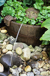 Water feature in barrel