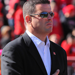Oct 13, 2012: Rutgers Scarlet Knights director of intercollegiate athletics Tim Pernetti during NCAA Big East college football action between the Rutgers Scarlet Knights and Syracuse Orange at High Point Solutions Stadium in Piscataway, N.J.