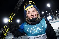 February 13, 2018 - Stockholm, Sweden - OS 2018 i Pyeongchang. Sprint, damer. Stina Nilsson, längdskidÃ¥kare Sverige, vann. tävling action landslaget guld (Credit Image: © Orre Pontus/Aftonbladet/IBL via ZUMA Wire)