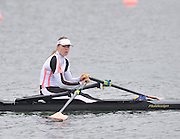 Eton, Great Britain,   Women's single scull final,  Anna Watkins [Bebington] in the A final at the 2010 GBRowing Trials, Dorney Lake. Berks. Sunday  11:10:36 [Mandatory Credit. Peter Spurrier/Intersport Images]