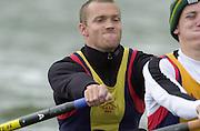 Nottingham, National Rowing Championship.<br /> 2001 Championships<br /> Photo Peter Spurrier.<br /> <br /> Sat 21th July 2001<br /> Oxford and District Sculling Club M2X<br /> <br /> Effort.     [Mandatory Credit;Peter SPURRIER;Intersport Images] 20010723 National Rowing Championships, Nottingham. UK