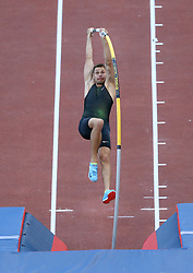 May 31, 2018 - Rome, Italy - Scott Houston (USA) competes in pole vault men during Golden Gala Iaaf Diamond League Rome 2018 at Olimpico Stadium in Rome, Italy on May 31, 2018. (Credit Image: © Matteo Ciambelli/NurPhoto via ZUMA Press)