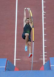 May 31, 2018 - Rome, Italy - Scott Houston (USA) competes in pole vault men during Golden Gala Iaaf Diamond League Rome 2018 at Olimpico Stadium in Rome, Italy on May 31, 2018. (Credit Image: © Matteo Ciambelli/NurPhoto via ZUMA Press)