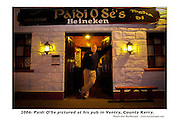 Paidi OSe in his pub in Ventry..Picture by Don MacMonagle