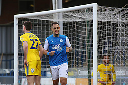 Jonson Clarke-Harris of Peterborough United celebrates scoring his goal against AFC Wimbledon - Mandatory by-line: Joe Dent/JMP - 20/02/2021 - FOOTBALL - Weston Homes Stadium - Peterborough, England - Peterborough United v AFC Wimbledon - Sky Bet League One